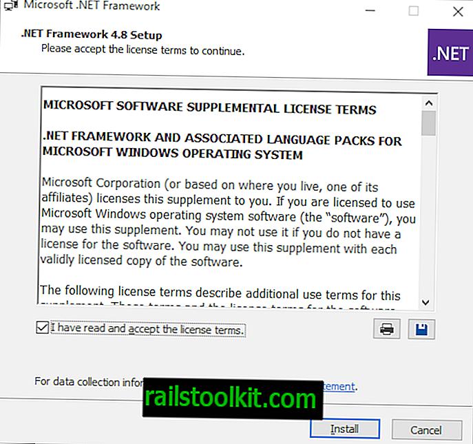 Download del programma di installazione offline di Microsoft .NET Framework 4.8