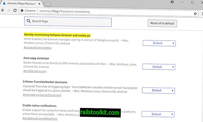 Keela väljalogimise link Chrome'i, Gmaili ja muude Google'i teenuste vahel