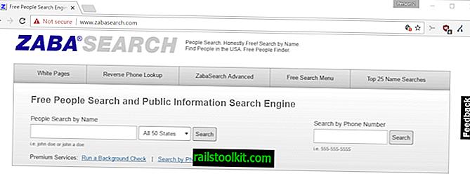 Zabasearch-ilmaiset ja edistyneet ihmiset-hakukone