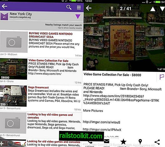 cPro is een mobiele client van derden voor Craigslist