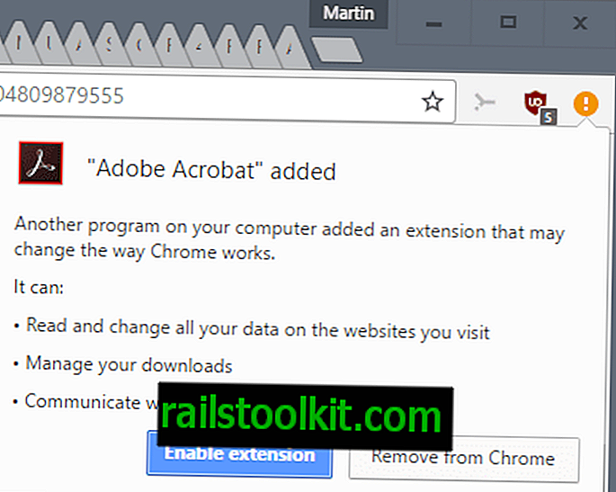 Attention: le dernier Adobe Acrobat Reader DC installe l'extension Chrome