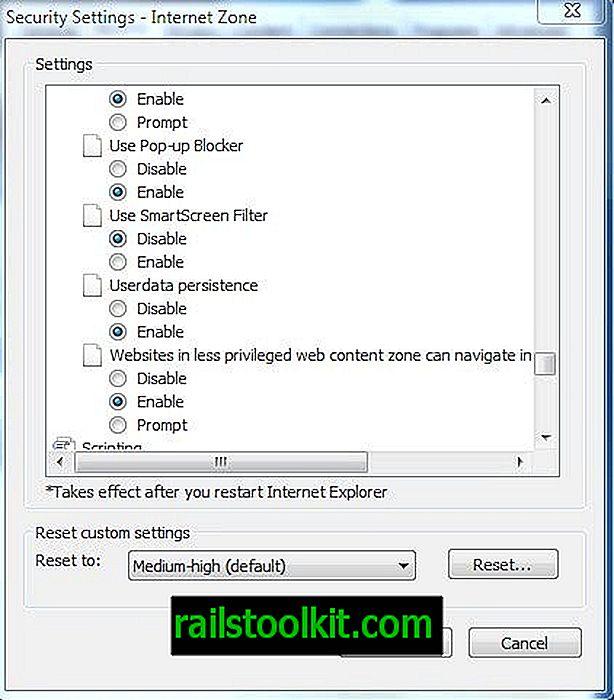 So deaktivieren Sie den SmartScreen-Filter im Internet Explorer