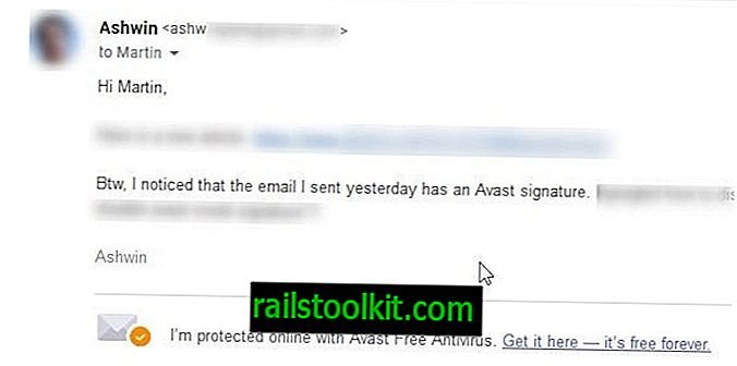 Како онемогућити потпис е-поште у Аваст Фрее Антивирусу