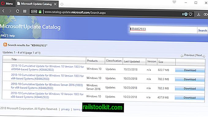 Microsoft izdaje KB4462933 za Windows 10 inačice 1803