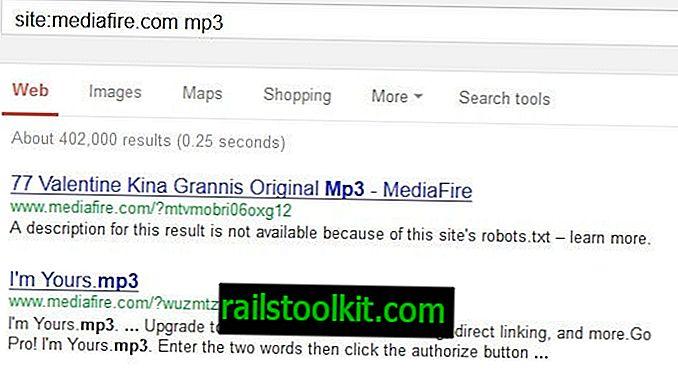 Durchsuchen Sie Mediafire nach Dateien