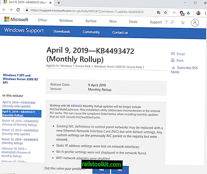 Oh schau mal, noch ein kaputtes Windows Update!  KB4493472 und KB4493446 verursachen Probleme
