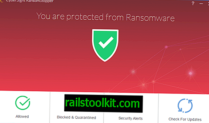 CyberSight RansomStopper anti-ransomware สำหรับ Windows
