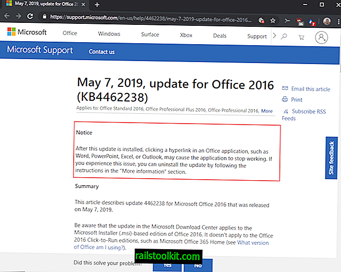 Microsoft пуска бъги Office Office Patch KB4462238