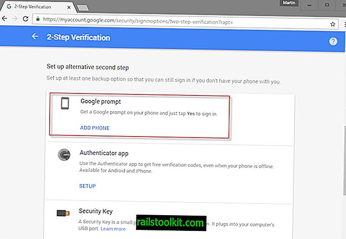 Ricevi un prompt di Google sul telefono per accedere