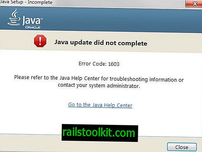 No se completó la actualización de Java Código de error: 1603