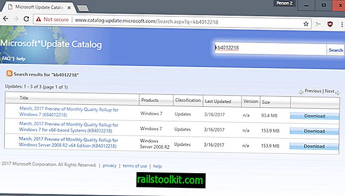 KB4012218, KB4012219: Detekce generování procesoru Windows Update