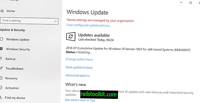 Kemas kini KB4340917 yang dikeluarkan untuk versi Windows 10 1803