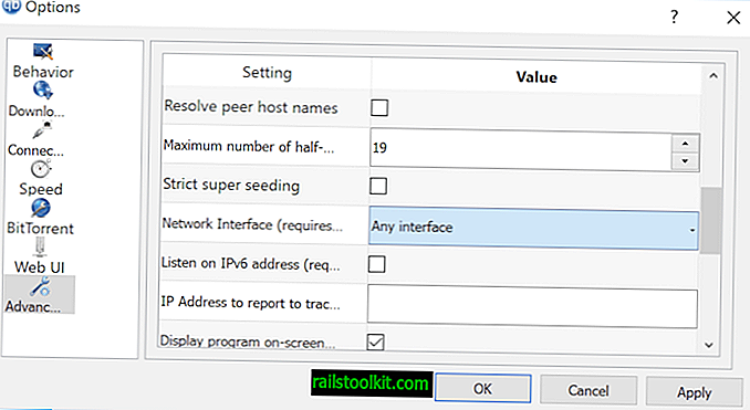 Налаштуйте qBittorrent для блокування передач при відключенні VPN