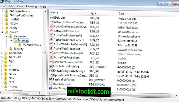 Деактивирайте или персонализирайте теста на Интернет за Windows за подобряване на поверителността