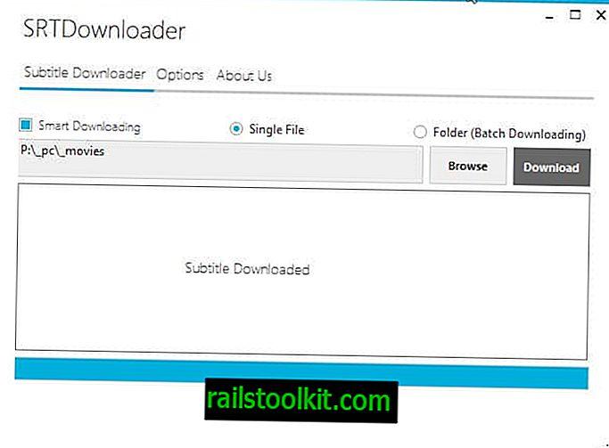 SRT Downloader lädt Untertitel für alle Videodateien in einem Ordner herunter