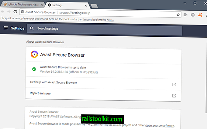 Kontrola Avast Secure Browser