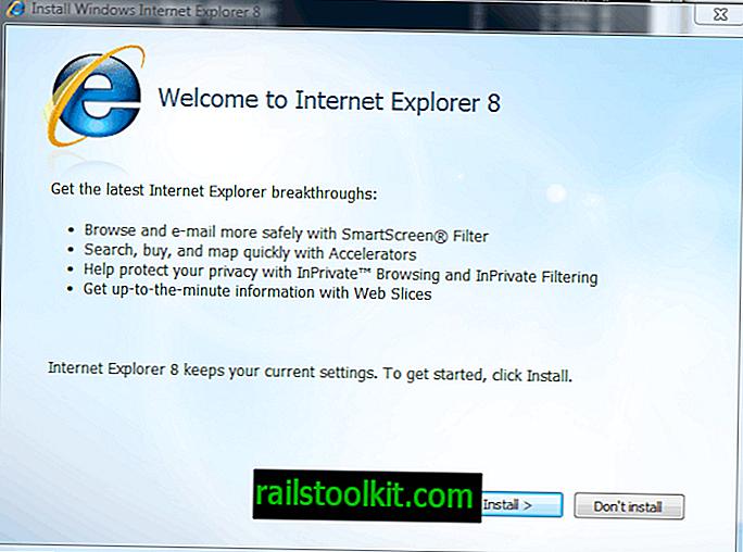 Deinstallieren Sie Internet Explorer 8