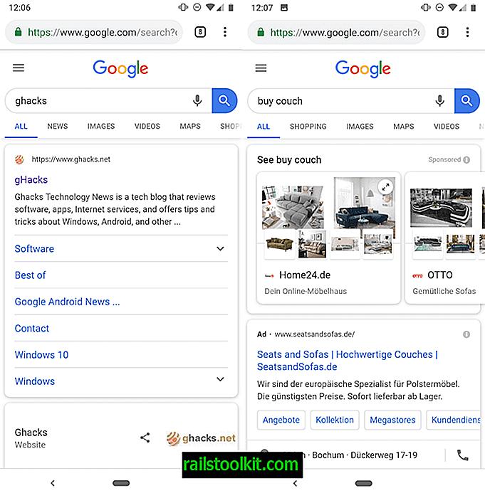 Google mengubah susun atur laman Carian Google mudah alih