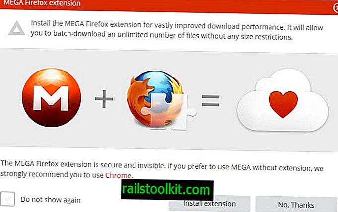 Objavljeno službeno proširenje Mega Firefoxa