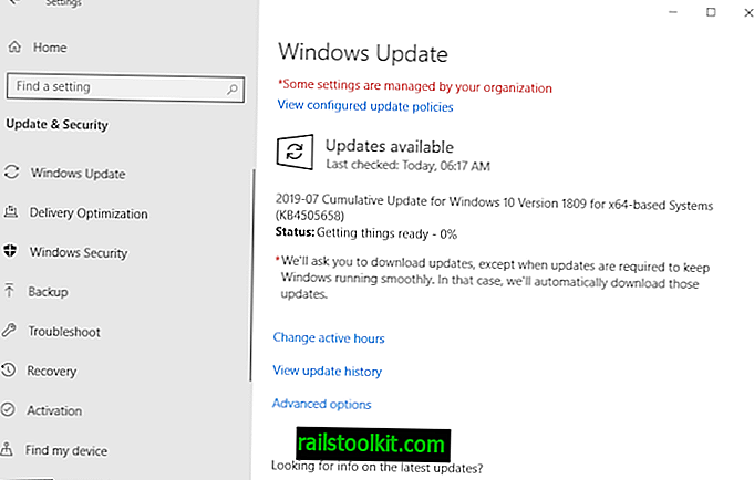 Update KB4505658 voor Windows 10 versie 1809 is uit