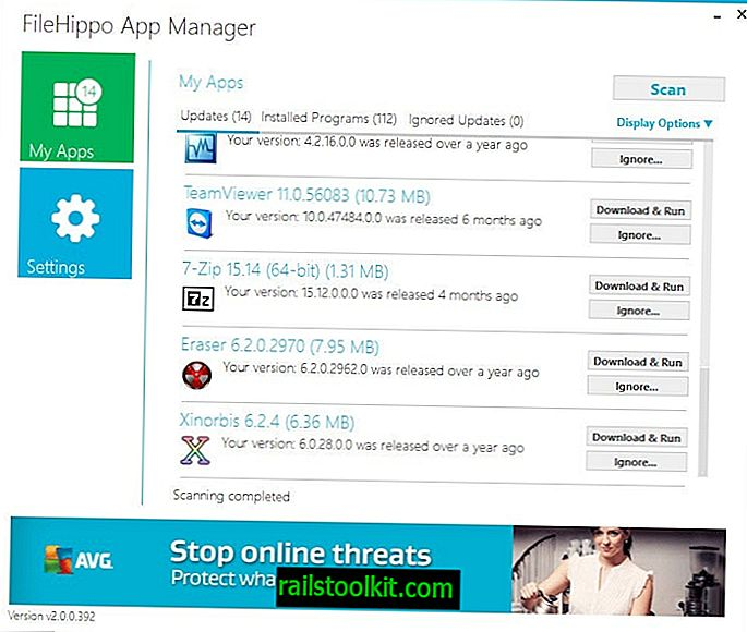 FileHippo App Manager: Software-Update-Prüfer