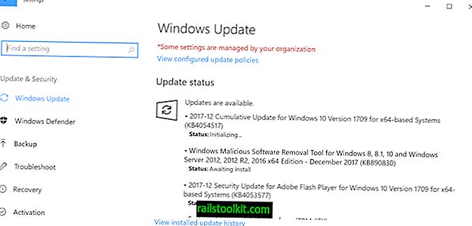 Publication des mises à jour de sécurité Microsoft de décembre 2017
