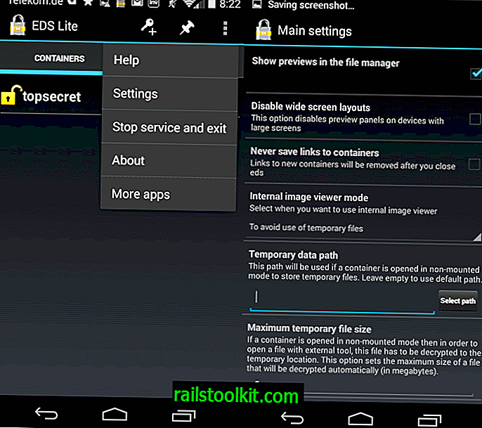 Správa kontejnerů TrueCrypt na zařízení Android