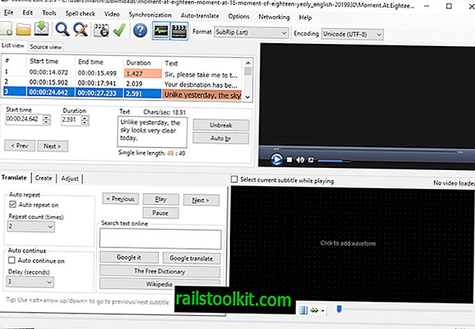 Subtitle Edit est un éditeur et convertisseur de sous-titres open source prenant en charge plus de 200 formats.