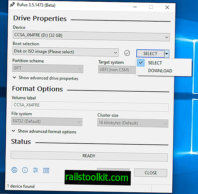 Rufus 3.5 med Windows 10 og 8.1 downloadmulighed