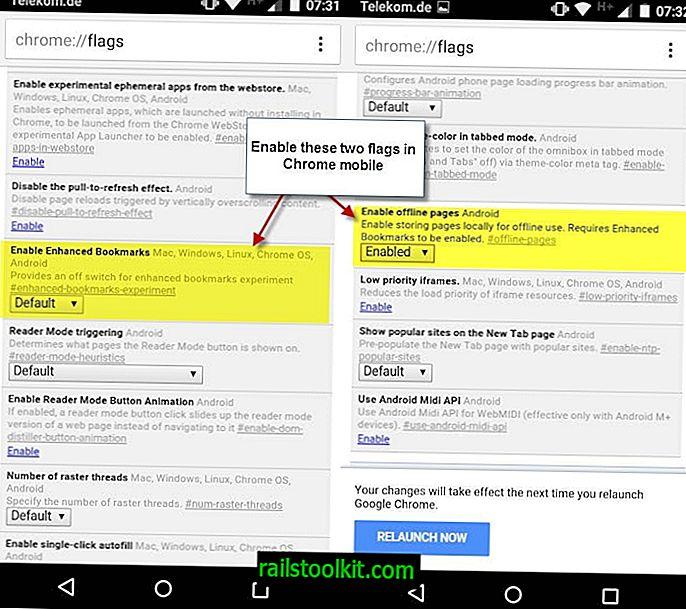 Speichern Sie Seiten für die Offline-Anzeige in Mobile Chrome
