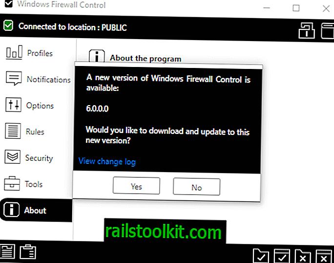 Windows Firewall Control 6.0 adalah keluar