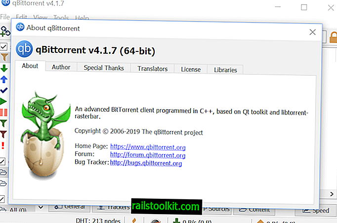 Bittorrent Client qBittorrent 4.1.7 está fuera