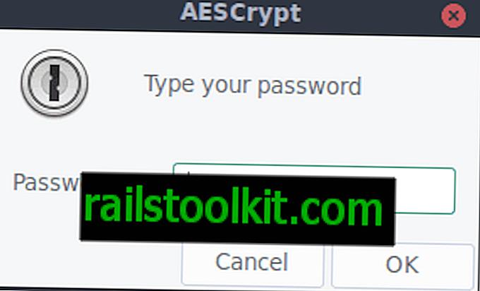 Використання AES Crypt для швидкого шифрування / розшифрування файлів у GNU / Linux