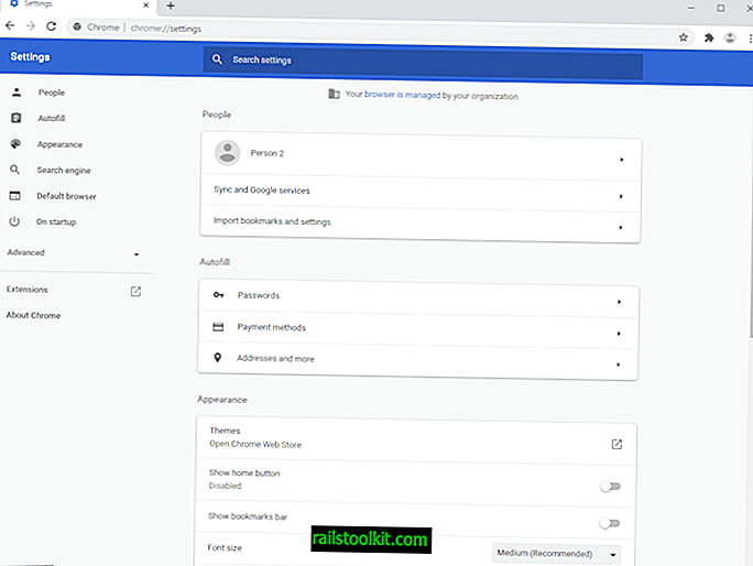Google Chrome: новая страница настроек находится на Канарских островах
