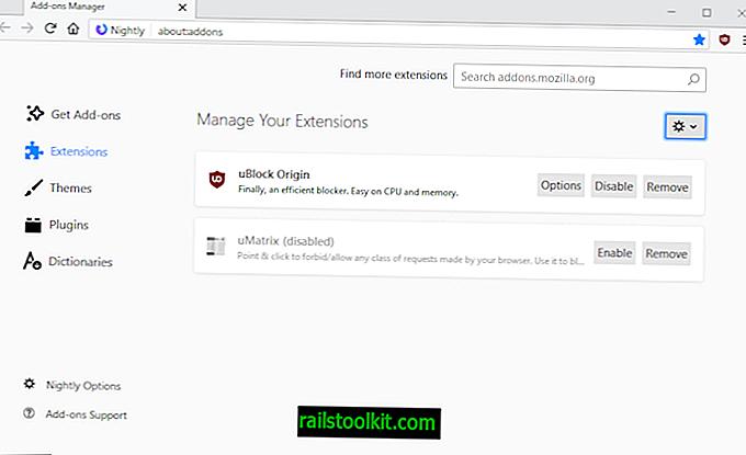 Első pillantás a Firefox frissített kiegészítőkezelőjére