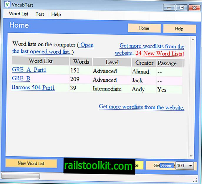 VocabTest, тест за безплатен речник