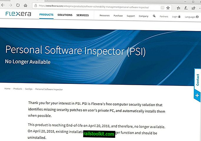 Secunia se retrage inspector software personal (PSI)