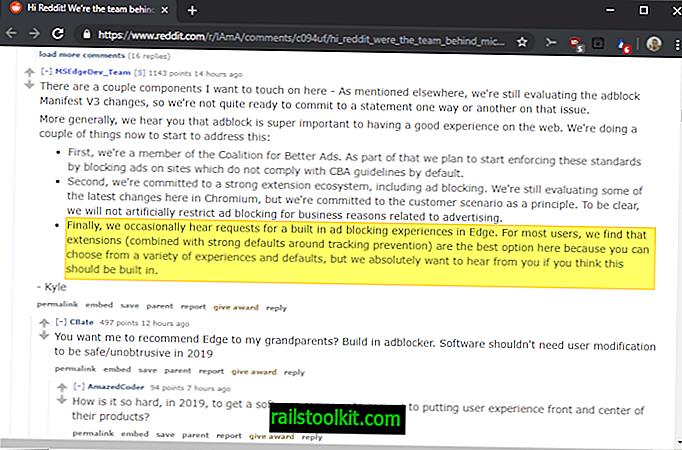 Microsoft: cho chúng tôi biết nếu bạn muốn chúng tôi xây dựng trình chặn quảng cáo vào Edge
