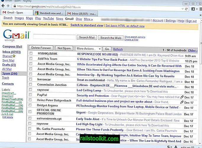 Come ripristinare la visualizzazione HTML di base su Gmail
