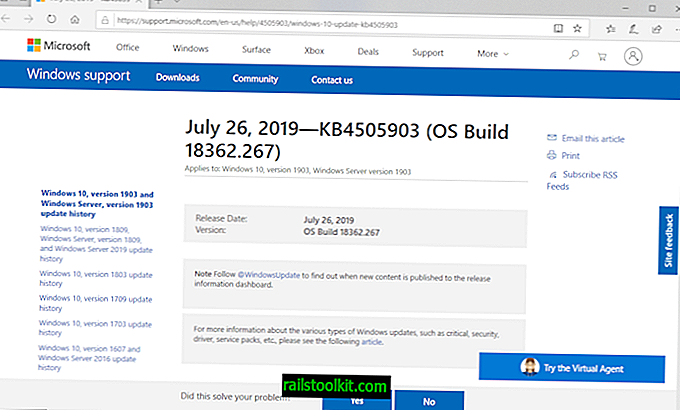 Microsoft выпускает KB4505903 для Windows 10 версии 1903