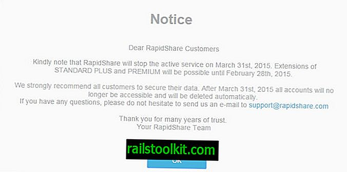Alternatif Rapidshare: File Hoster menutup 31 Mac 2015