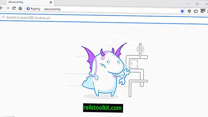 Uma olhada na nova página about: config do Firefox