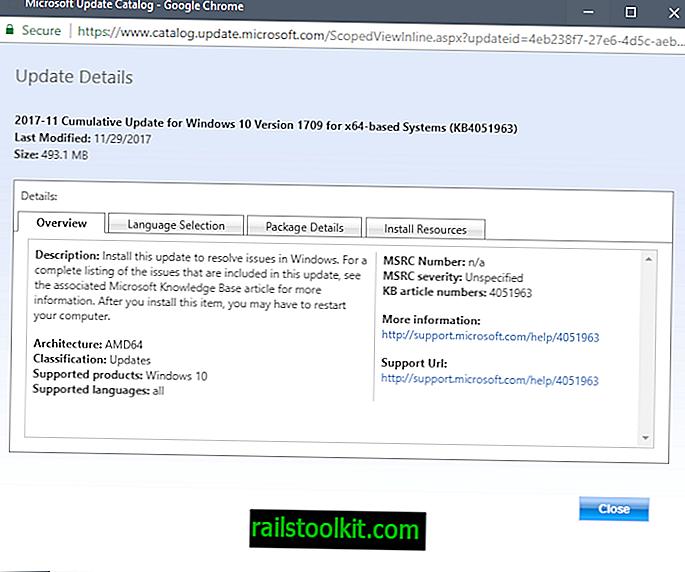 Microsoft veröffentlicht KB4051963, KB4052342, KB4055237 und KB4054022 für Windows 10, Version 1709