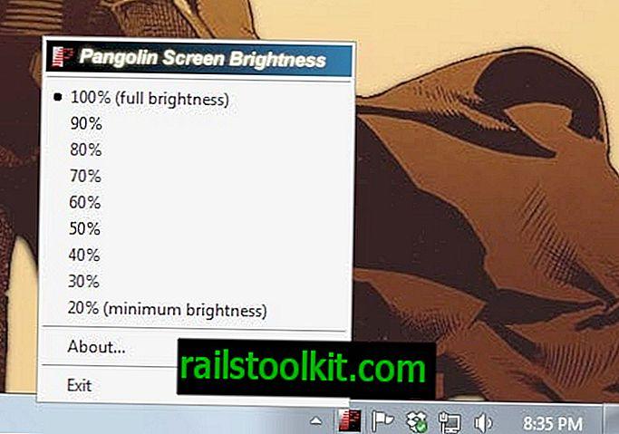 Pangobright é uma ferramenta de escurecimento de tela com suporte para vários monitores
