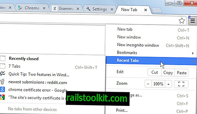 Как да възстановите раздели в Google Chrome