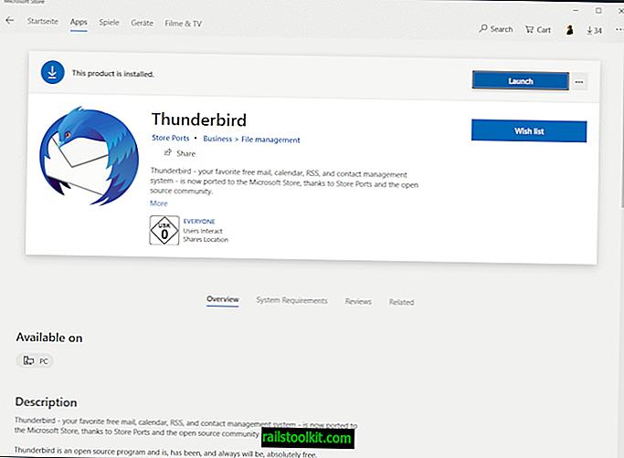 Тхундербирд клијент е-поште слети у Мицрософт Сторе, али коме је потребан?