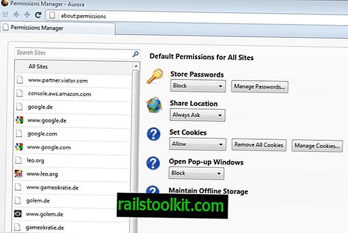 Der neue Firefox-Berechtigungs-Manager