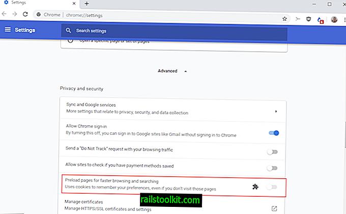 """Paramètre """"Utiliser un service de prédiction"""" manquant dans Chrome?"""