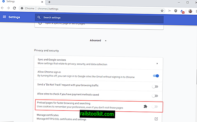 "¿Falta la configuración de ""Usar un servicio de predicción"" de Chrome?"