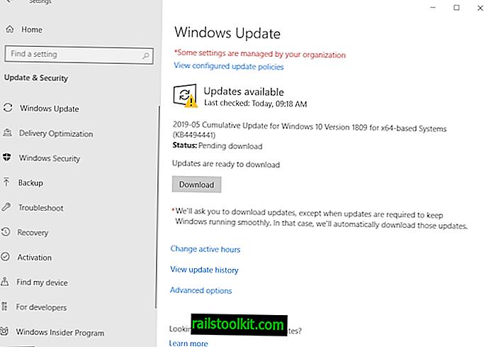 KB4494441 за Windows 10 версия 1809 може да се инсталира два пъти